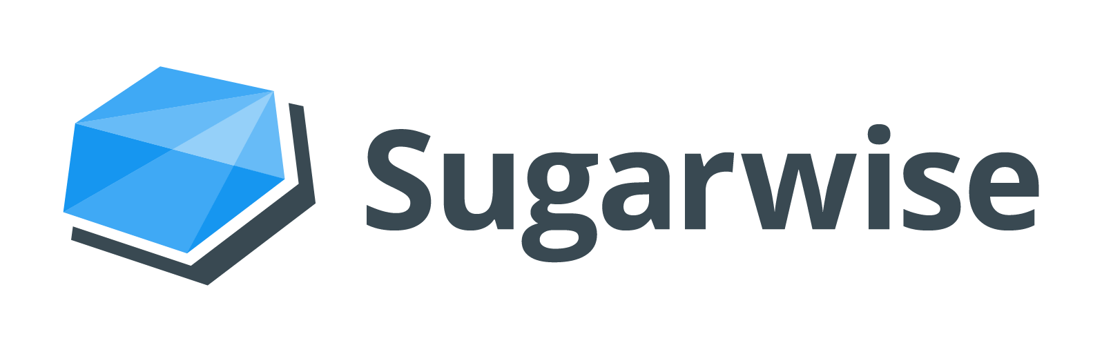 Sugarwise transparent gray lettering
