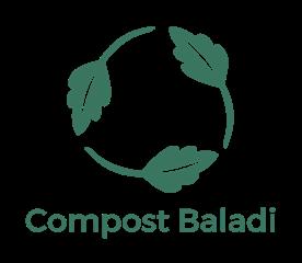 Compost baladi logo green vertical