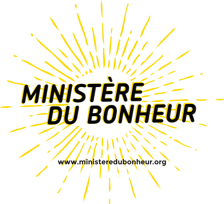 Ministere du bonheur logo   fond transparent avec url