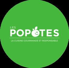 Smaller logo rond fond vert